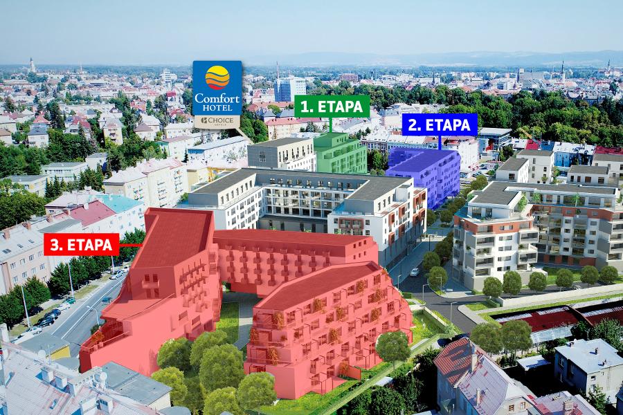 V centru Olomouce vyrůstá nová čtvrť