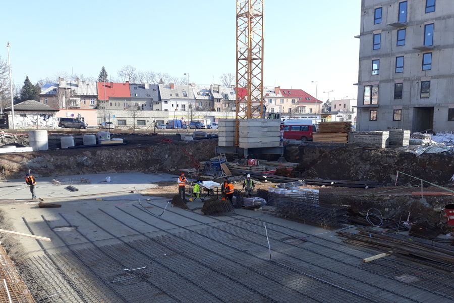 Budování bytů v centru Olomouce pokračuje
