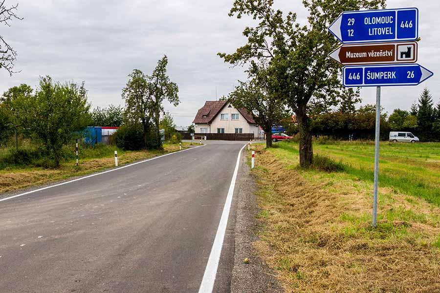 Kraj opravil silnici zUničova do Dlouhé Loučky